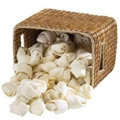 Rawhide Dog Chews Knotted Bones - 4-5 inch