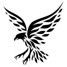 Exactly so, a little cuter version and claws are facing up to grab something Tribal Eagle Tattoo, Eagle Tattoos, Tribal Tattoos, Stencil Designs, Stencil Patterns, Stencil Templates, Stencils, Doodle Drawings, Tattoo Drawings