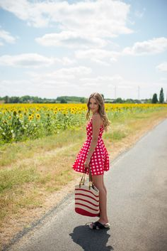 July Style Tips: Keep that Fourth of July look going all month long in berry toned dresses