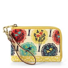 Fossil Song of Spring Key-Per Wristlet #VonMaur #Fossil #Multicolor