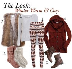 I want a warm cozy outfit like this!