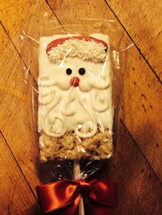 Santa baby rice crispy treat!!!!