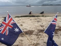 Bribie Island. Australia Day, Surfboard, Flag, Island, Country, Art, Australia, Block Island, Craft Art