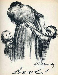 Käthe Kollwitz, Bread!, 1924