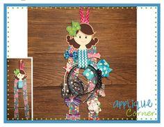 In The Hoop Girl Bow Holder Design