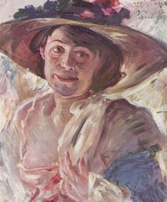 Woman With Rose Hat by Lovis Corinth (Germany)
