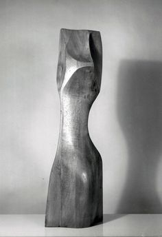 Sam Diamond, Polish/American (1919 - 1978) , Modern Torso, Carved Wood Sculpture, 24 in. (60.96 cm) tall