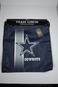 Dallas Cowboys NFL Team Cinch Drawstring Backpack by Little Earth. $9.49