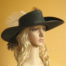 €77,- dames hoed Nieuwe middeleeuwse Keltische Renaissance door MorganasCollection