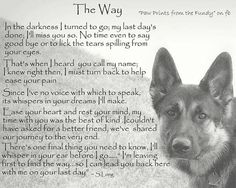 Love...another poem (from a pet?) to help US when our furry family members pass