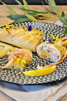 Bbq Squid, Chefs, Fish Recipes, Vegan Recipes, Tapas, Tunisian Food, Culinary Arts, Fish And Seafood, Fresh Rolls