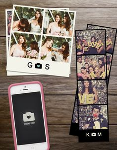 A fun + mobile photo booth, now available on Wedding Party for you + all your guests!