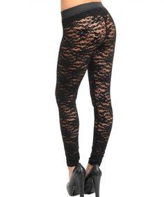 Black Textured Leggings from Picsity.com