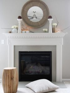 ideas for how to decorate and add decor to a fireplace mantel