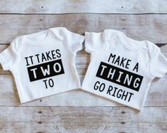 Twin Onesies Born together friends forever by AdsAndMarnieCo Boy Girl Twins, Baby Twins, Twin Babies, Twin Baby Boys, Twin Baby Gifts, Boy Girl Twin Outfits, Twin Baby Stuff, Twin Mom, Twin Outfits For Babies