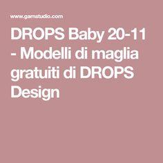 DROPS Baby 20-11 - Modelli di maglia gratuiti di DROPS Design