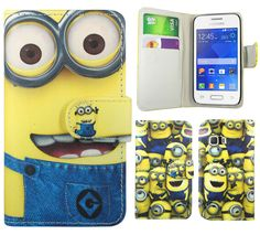 Despicable Me 2 Minion Leather Wallet Case Cover For Samsung Galaxy Young 2 G130 #Samsung
