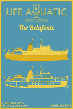 Life Aquatic, The Belafonte / Illustrated Floor Plans for Wes Anderson Films by Jennifer Lewis