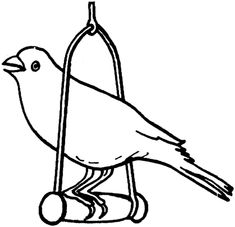 Click To See Printable Version Of Canary Bird Coloring Page