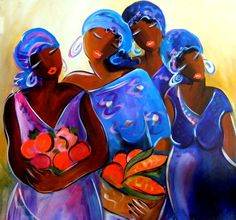 the Gatherers Painting  - the Gatherers Fine Art Print