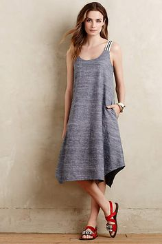 Chambray Trapeze Dress - anthropologie.com