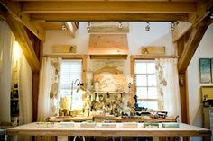 The most beautiful art studio I've seen and a great blog documenting the building of it.