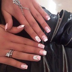 Find images and videos about style and nails on We Heart It - the app to get lost in what you love. Pedicure Nail Art, Cute Nails, Pretty Nails, Hair And Nails, My Nails, Best Nail Art Designs, Fabulous Nails, Cool Nail Art, Pink Nails