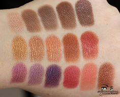 Inglot eyeshadows - (Top Row, L to R) (397, 344, 460, 37, 423) (Middle Row, L to R) 25, 09, 15, (464), 607 (Bottom Row, L to R) 39, 463, 439, 449, 361, 12