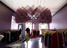 Unique hanging sculpture for a boutique