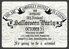 PRINTABLE Spooky Floral Halloween Party by chachkedesigns on Etsy