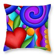 Heart And Swirl Throw Pillow
