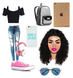 """Six flags outfit"" by swagforever ❤ liked on Polyvore featuring Converse, Kate Spade, Betsey Johnson and Matthew Williamson"