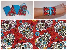 Weightlifting and Gymnastics Wrist Wraps - Folkloric Skulls
