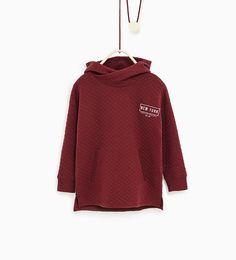 Quiltad sweatshirt