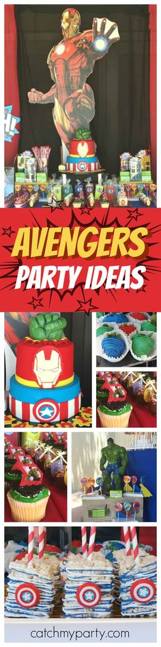 Needing some superhero inspiration? This avengers birthday bash is awesome! The birthday cake is just so cool! See more party ideas and share yours at CatchMyParty.com