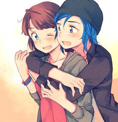 chloe x max - life is strange - by hachiko … I ship them so much Chloe Price, Yandere, Game Art, Dark Boy, Dontnod Entertainment, Arcadia Bay, Life Is Strange 3, Hachiko, Max And Chloe