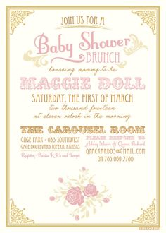 16 best email baby shower invites images on pinterest baby shower vintage baby shower invitation filmwisefo