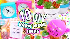 10 DIY ROOM DECOR IDEAS! FUN DIY ROOM DECOR IDEAS YOU NEED TO TRY! - YouTube