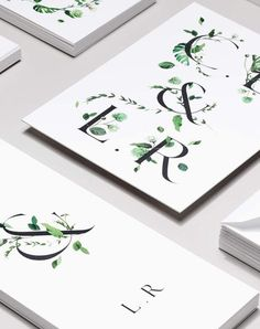 wedding invitation inspiration | invite ideas | minimalist invitations | botanical + floral graphics | venamour stationery | v/ stylecaster |