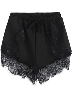 Shop Black Elastic Waist Contrast Lace Shorts online. SheIn offers Black Elastic Waist Contrast Lace Shorts & more to fit your fashionable needs.