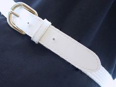 Vintage White Woven Cord Belt Modern Size 8 Small by bytheway, $7.50