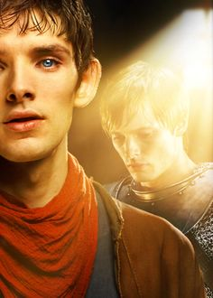 Colin Morgan as #Merlin and Bradley James as Arthur #MerlinMonday
