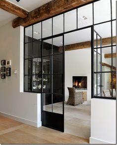 Drzwi z metalu i szkła / metal
