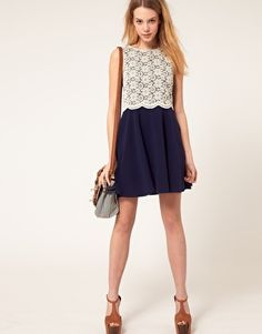 love white lace and navy!
