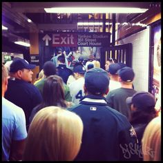 Subway Exit at 161 & River ave. N.Y. Yankees Opening Day In TheBronx!!
