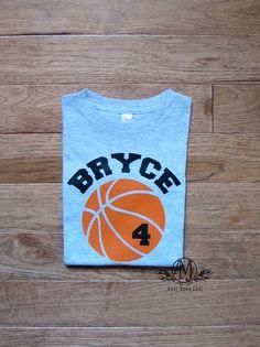 Personalized basketball birthday shirt boys by PricelessKids
