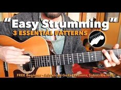 Beginner Guitar Lesson - 3 Easy Strumming Patterns You Must KnowAn easy acoustic strumming lesson for beginner guitar players. In this rhythm guitar tutorial, Guitar Lessons For Kids, Online Guitar Lessons, Guitar Lessons For Beginners, Piano Lessons, Music Lessons, Easy Guitar Songs, Guitar Tips, Guitar Strumming Patterns, Best Acoustic Guitar