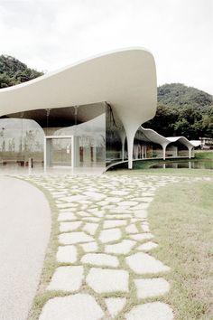 Meiso no Mori Funeral Hall by Toyo Ito.