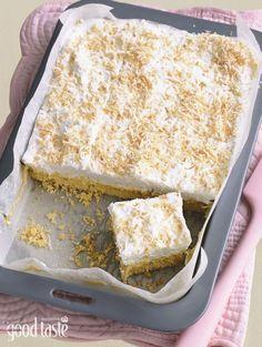 Marshmallow Caramel Slice (shared by Good taste reader Debbie Frassetto) Baking Recipes, Cake Recipes, Dessert Recipes, Desserts, Baking Ideas, Marshmallow Slice, Recipes With Marshmallows, Biscuit Recipe, Dessert Bars