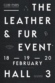 Typeface / Cuir à Paris SS 15 Les Graphiquants
